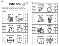 I like these activities about counting syllables in words :-)