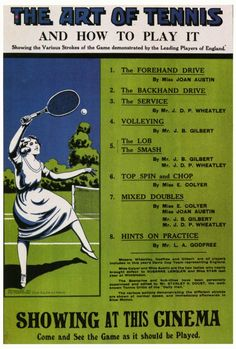Cool vintage tennis poster. #play #tennis #fiction #ebook #drama #youngadult #school www.coliloquy.com