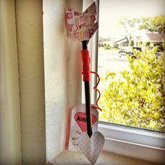 Valentine Pencil Arrows, what we made last year...  #littlebighead