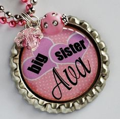 Bottle cap necklaces on Etsy! My daughter got me one and I wear it everyday!