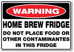 Home Brew Beer Fridge Sticker 300mm x 210mm on Etsy, $8.30