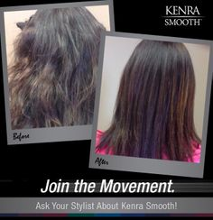 Kenra Smooth works on all hair types, eliminates up to 99% of curl and frizz, and lasts up to 60 shampoos!