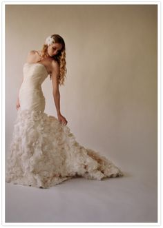 Ruffled mermaid wedding dress