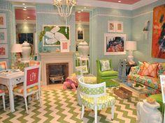 Whimsical rooms on pinterest fantasy bedroom shabby for Colorful whimsical living room