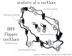 DIY Flapper Necklace-The Anatomy of a Necklace #DIYJewelry #QuickandEasyJewelry