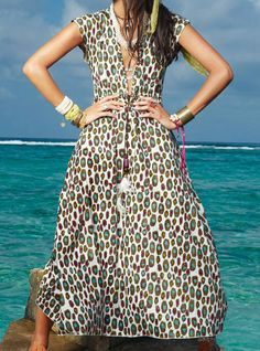 Leopard Maze Dress by Ondademar Swimwear