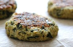 Quinoa and Spinach Patties - 3 Points+ per Patty