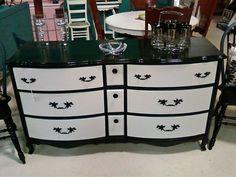Black and White Dresser redo