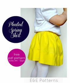 Pleated Spring Skirt - FREE PDF Pattern