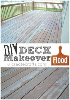 Deck makeover with FLOOD before