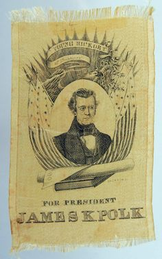 James K. Polk ribbon, 1844
