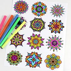WOW! Mandala Free Coloring Pages