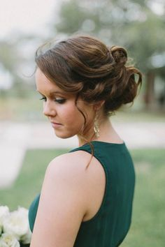 Updo #wedding #hairstyle ideas. To see more: www.modwedding.com