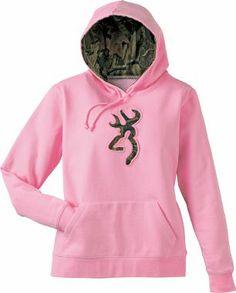Browning pink w/ camo hoodie
