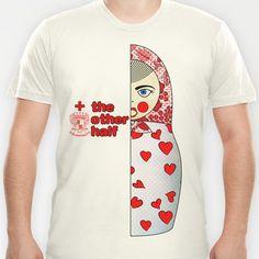 Matryoshka Hearts Left T-shirt