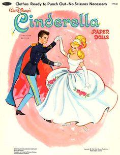 DIGITAL VINTAGE Cinderella Paper Doll Book 1965