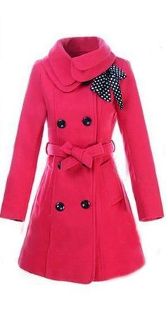 Winter wool coat -to go with the long sleeve dress ;-) More