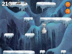 frozen game, olaf game, game build