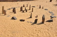 A replica of the stone circle at Nabta Playa (4,800BC) from the Aswan Nubia museum (photo copyright wiki user Raymbetz 2009)
