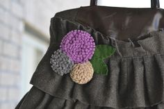Felty flower. Using my felted sweaters.