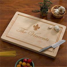 "Maple Leaf Personalized 18"" Cutting Board-No Handles"