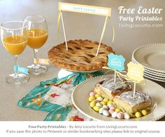 Free Party Printable Collection that can be used for Easter celebrations