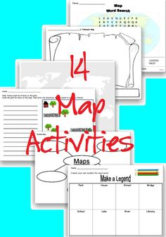 This is a fun Map Activity Pack your students will enjoy! These activities provide opportunities for students to become familiar with maps and directions. Use these map activities to explore vocabulary associated with maps. Students explore map characteristics and then have fun creating their very own maps!     #map #maps #geography #classroom