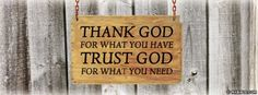Thank God For What You Have
