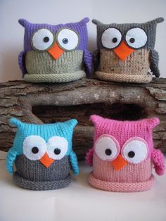 Knit baby owl hats :)