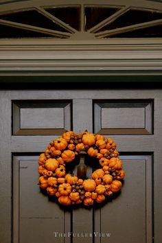 pumpkin wreath / david fuller photo