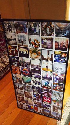Print and frame instagram pics -   http://bostinno.com/2011/12/28/how-to-print-frame-your-instagram-photos/