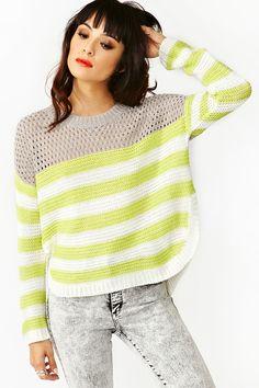 Mesh Stripe Knit
