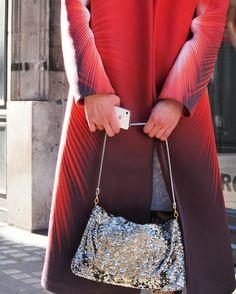 pretty coat and bag