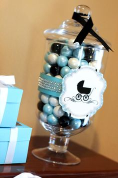Breakfast At Tiffanys Baby Shower via Karas Party Ideas KarasPartyIdeas.com #breakfast #tiffanys #baby #bridal #shower #party #ideas