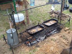 Cooking Trench - we have a slightly smaller version of this and it works so well over a campfire.