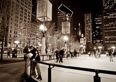 millenium park ice skating