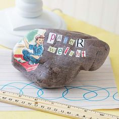 Paperweight for Fathers Day plus lots more easy Father's Day crafts for kids to make!