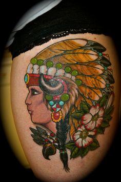 Indian Princess tattoo lastviking1979.blogspot.com