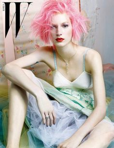#W | #Fashion | #Pastel | #Colour | #Trend | #Style | #Dress | #Pink | #Makeup | #Model | #Fashionshoot | #Photoshoot | #Magazine | #Editorial | #Hair | #Pretty | #Skinny