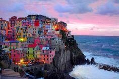 cinque terre, dream, amalfi coast, colorful houses, sea, travel, place, rainbow, bucket lists