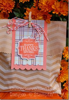 Tag a Bag Thanksgiving Favor Bag-ChaosServedDaily