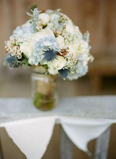 Love this blue bouquet