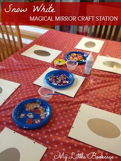 Snow White Party Craft Activity.  Making Magical Mirrors that double as party favours. By My Little Bookcase