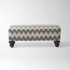 Love this printed bench from West Elm