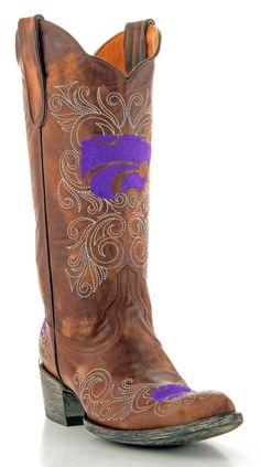Womens Kansas State University boots -- Go K-State!