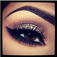 Holiday Makeup. I think you could do this with the Naked Palette by Urban Decay