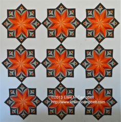 Wall Flower quilt pattern by Elsie M. Campbell and Aunt Mimi's Quiltworks