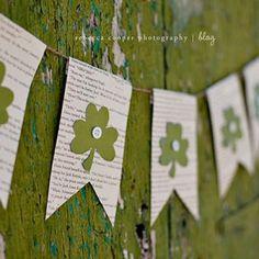 #DIY banner for St. Patrick's Day
