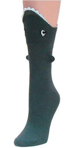 Shark Bite Trouser Socks...so cool