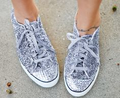 glitter sneakers DIY  with  studded toe - converse - target by ...love Maegan, via Flickr